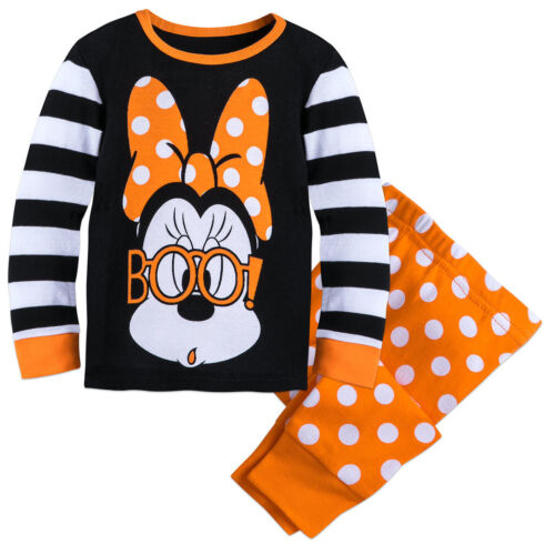 Disney Authentic Minnie Mouse Halloween Pajamas Girls Size 0 3 6 12 18 Months