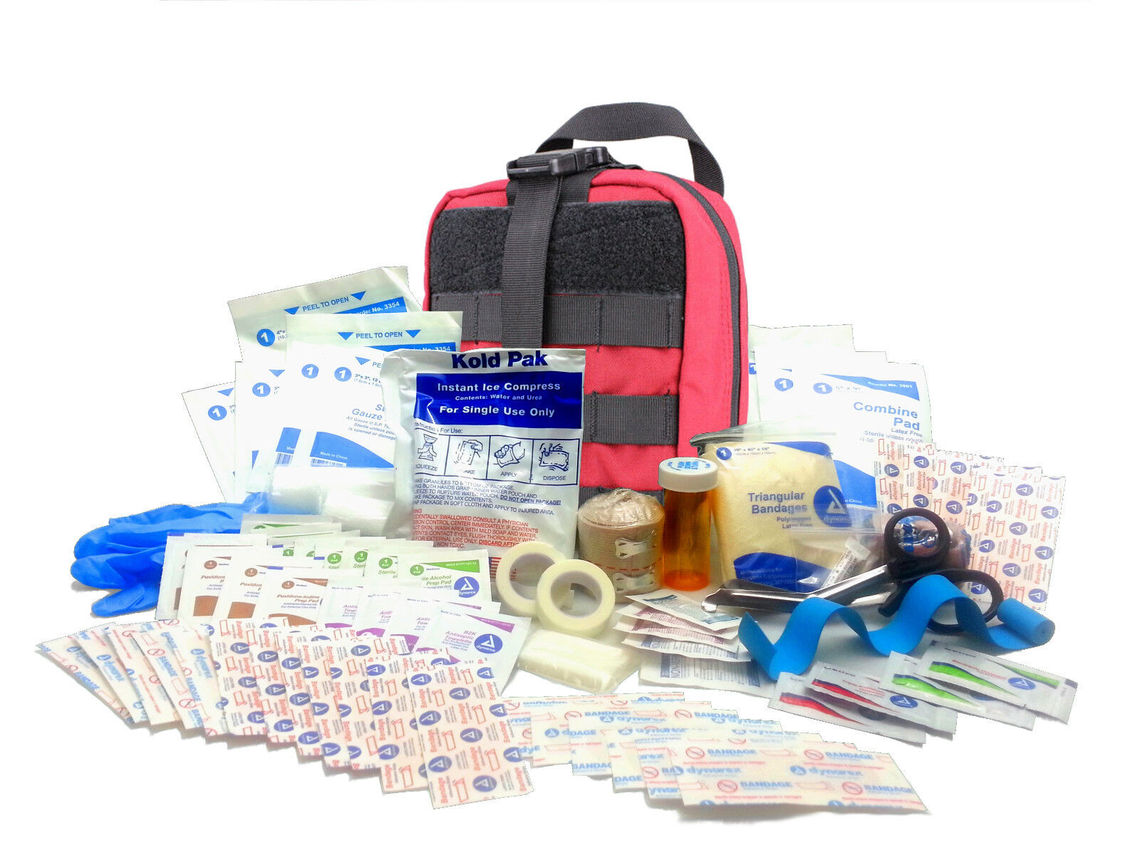 Military Rip-Away EMT First Aid Kit - IFAK Level 1 Army Medic Red  FA16