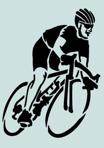 usw ** Nr.: 807 Schablone** Fahrrad fahren **für Stoffe Möbel,Torten,Wände