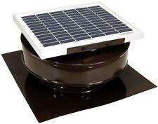 Solar Powered 5 Watt Roof Mounted Exhaust Attic Ventilation Fan 365 CFM Brown