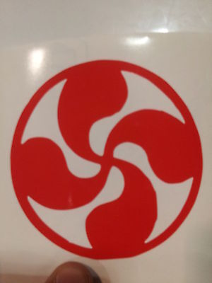STICKER AUTOCOLLANT CROIX DE LORRAINE STICKERS VOITURE TUNING PAREBRISE
