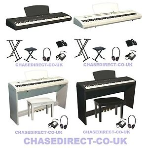 chase p 65 digital electric portable piano hammer action weighted keyboard ebay. Black Bedroom Furniture Sets. Home Design Ideas