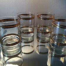 Kraftware Hollywood Regency Rock Glasses Vintage Must SEE Clean! Set of 4