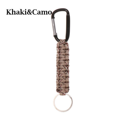 Cord Keychain Key Chain Rings Emergency Rope Carabiner Outdoor Camping Keyring