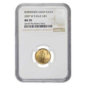 2007-W-1-10-oz-5-Burnished-Gold-American-Eagle-NGC-MS-70