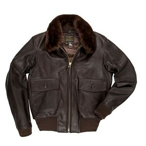 COCKPIT-USA-G-1-LEATHER-FLIGHT-JACKET-WITH-REMOVABLE-COLLAR-BROWN-Z2108M-G1