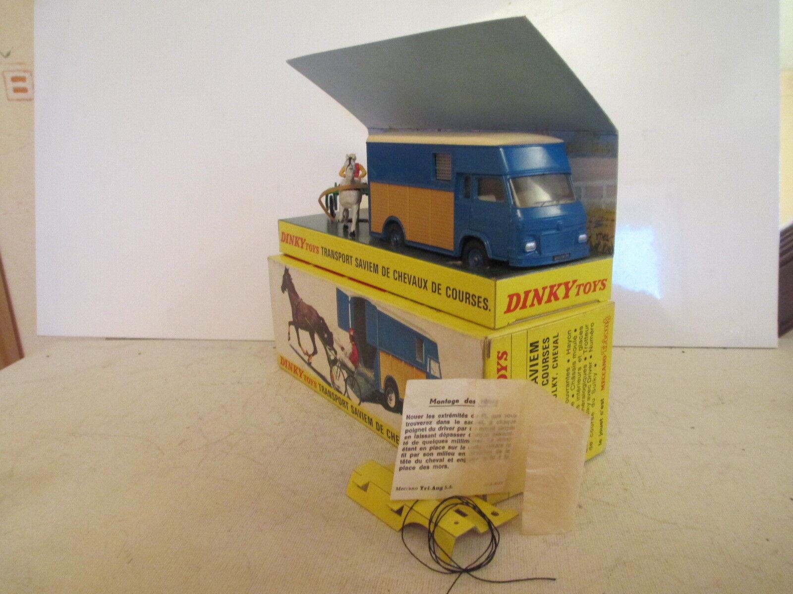 DINKY 571 SAVIEM GOELETTE SB2 THEAULT HORSE BOX SULKY MIB 9 EN BOITE SONICE LK
