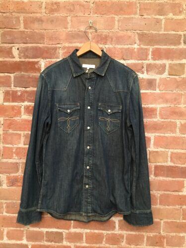 Sandro Paris Men's Western Shirt Denim Size Medium