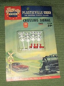 Details about Vintage Plasticville 2303,HO Scale,Crossing Signals,4  Lights,Sealed, Bachmann