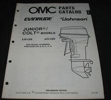 Parts Catalog OMC Evinrude Junior / Colt Models EJR-CEB / JCO-CEB ET Katalog ´88