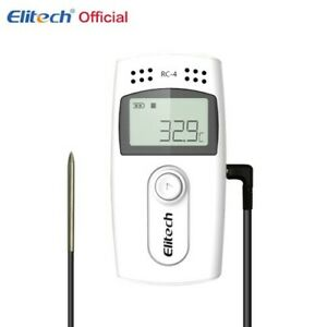 Thermometer Elitech RC-4 Digital LCD Temperature Data Logger With Probe