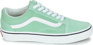 a5ac33b8ab43 VANS Old Skool Neptune Green Mens Suede Skate Sneakers Shoes ...