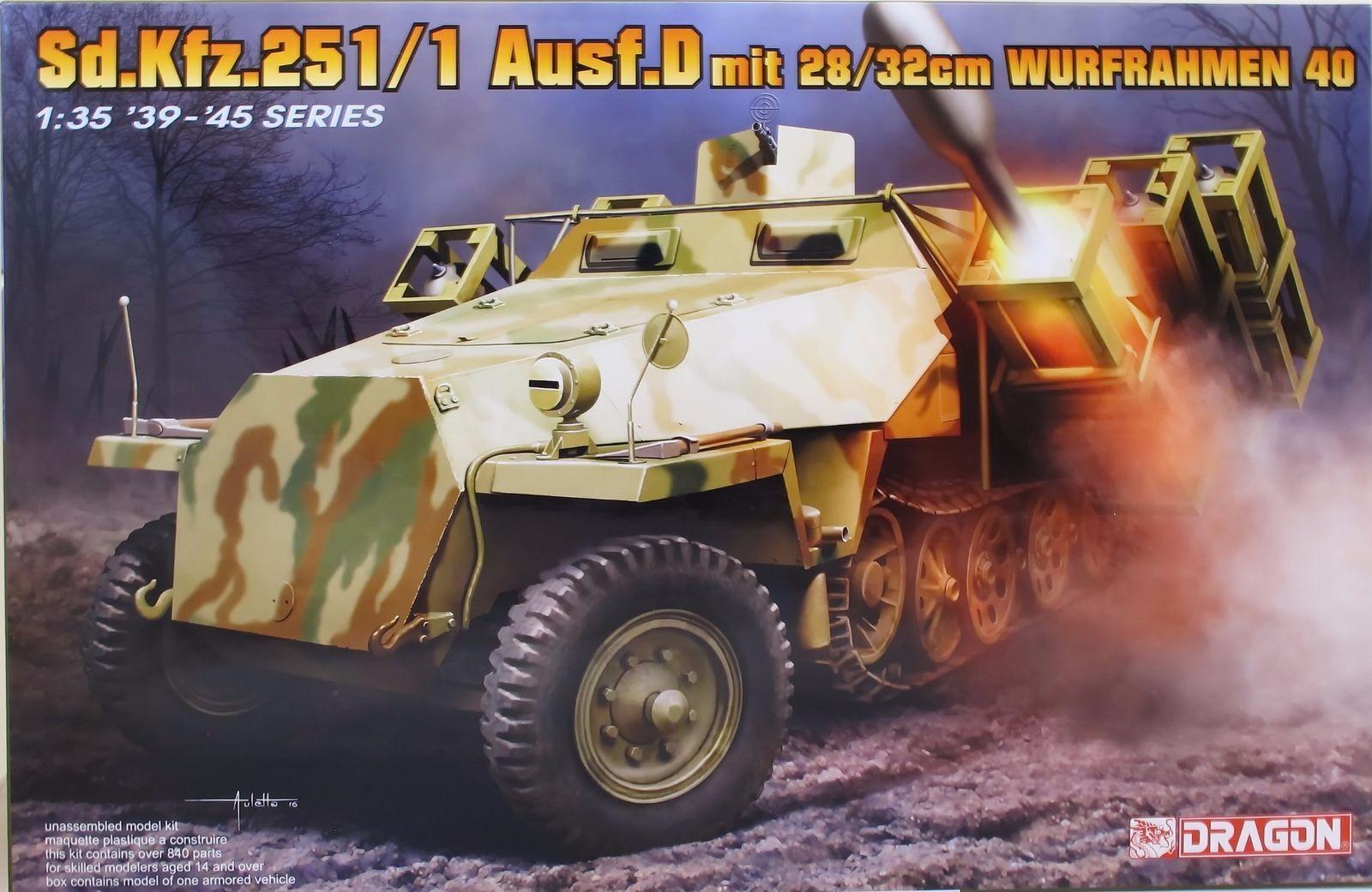 Drago 6861 sd.kfz.251 ausf. d (28   32cm wurfrahmen 40 1   35 kit modello.