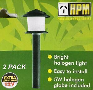 Details About 2 X Hpm Mackay Tier Garden Path Lights 12v 5w Low Voltage Diy Verdigris Finish