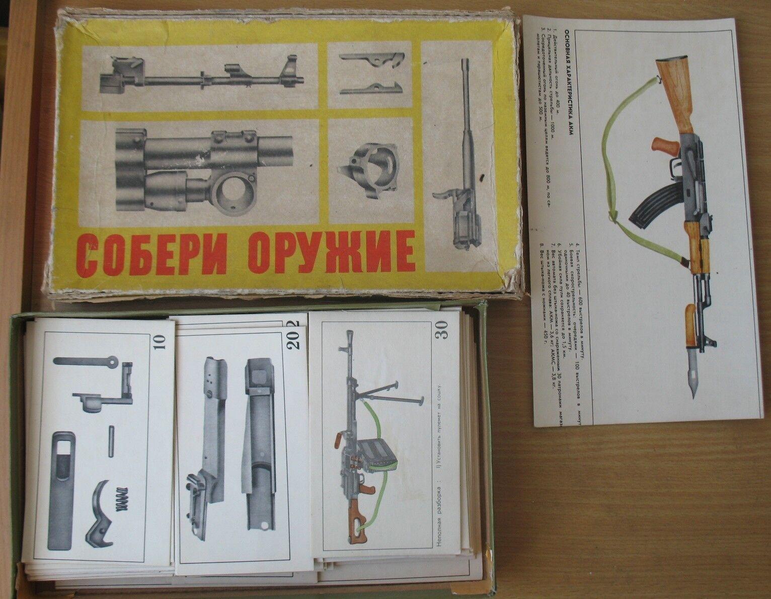 Russe Tableau Board Game recueillir arme armée fusil mitrailleuse AKM PK TOZ SPR Ki