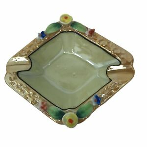 Vintage-Mid-Century-Porcelain-Hand-Painted-Mepoco-Ware-Ashtray-Japan