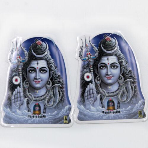 Aufkleber Sticker 2x SHIVA Indien Goa Hippie God-Stickers India  6,5 x 8cm   82