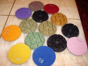 "4"" Typhoon Granite Concrete 10mm Thick Polishing Pad - 9 Piece Floor Travertine"