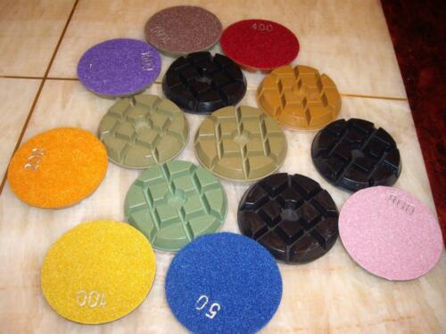 "15 Piece Floor Travertine 4/"" Typhoon Dry//Wet Concrete 10mm Thick Polishing Pad"