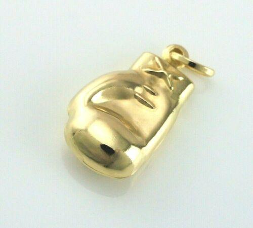 Nouveau 9ct or jaune boxe gant charm//pendentif