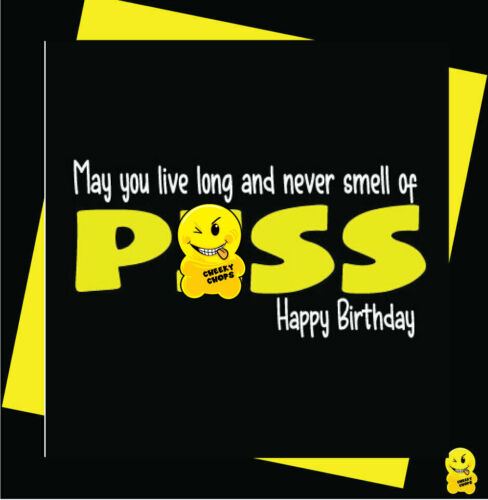FUNNY//NOVELTY//BIRTHDAY//RUDE//CHEEKY CHOPS Smell of p*ss-C352