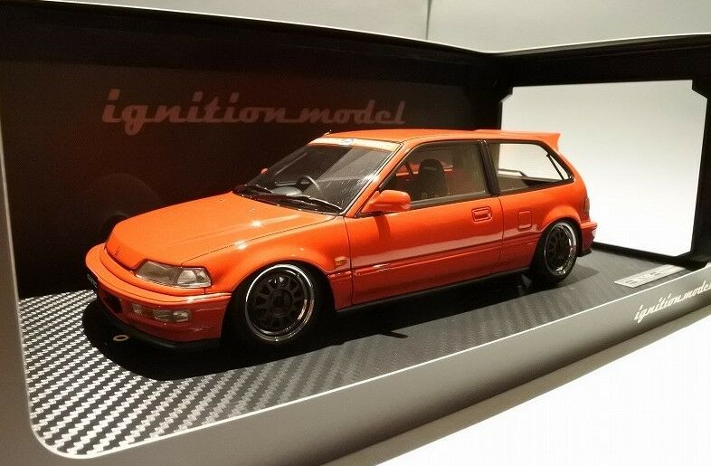Ig1293 tändningsmodellllerl 1 18 Honda CIVIC (EF9) SiR Röd