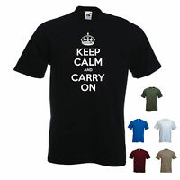 'Keep calm and carry on'. - Funny mens T-shirt. S-XXL