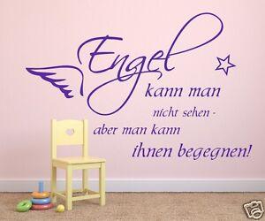 Wandtattoo fürs Schlafzimmer Kinderzimmer Aufkleber Tapete -Engel ...
