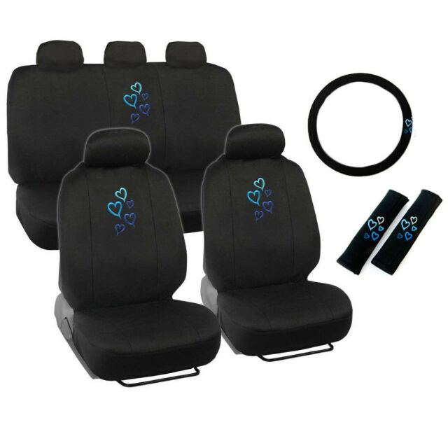 Bdk Blue Love Story Design Seat Covers For Car Suv And Van 9pc Ebay