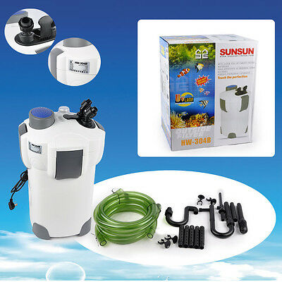 5 Stage Aquarium Canister Filter 9W UV Sterilizer 525 GPH Fresh/Salt FREE MEDIA