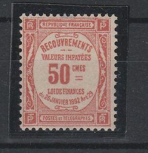 FRANCOBOLLI-1908-25-FRANCIA-50-C-SEGNATASSE-MNH-Z-4386