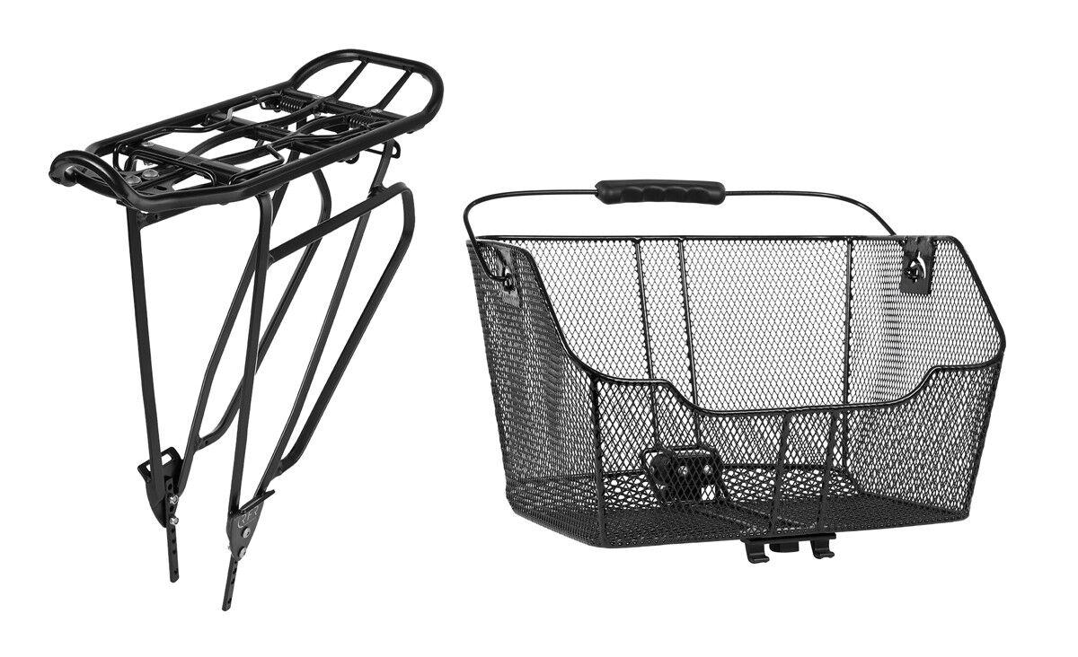 Portaequipajes & cesta set clic & Go negro