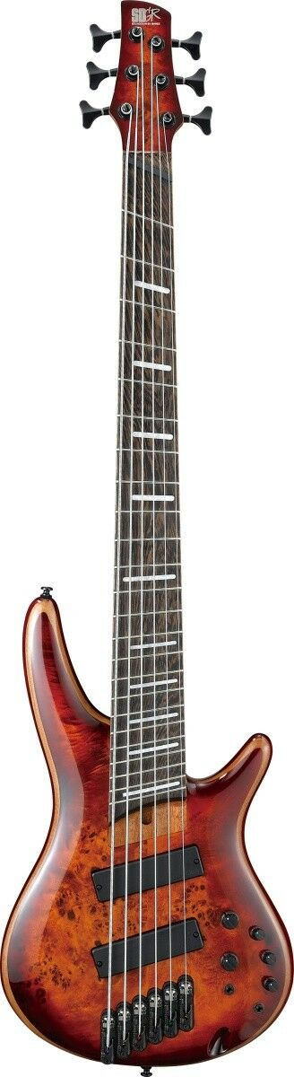 New Ibanez SRMS806-BTT Braun Topaz Burst Electric Bass Guitar From Japan