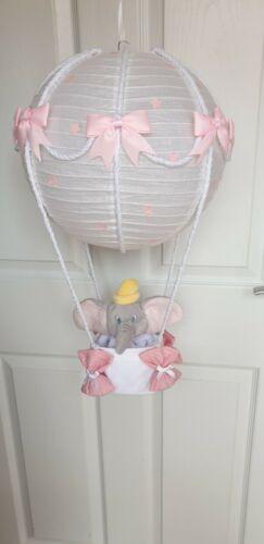 Hot air balloon light shade Disney dumbo pink looks stunning nursery x