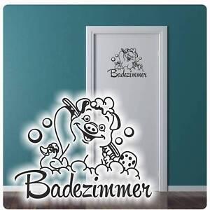 Türaufkleber Badezimmer Schwein Ente Wandtattoo Tür Aufkleber Bad ...