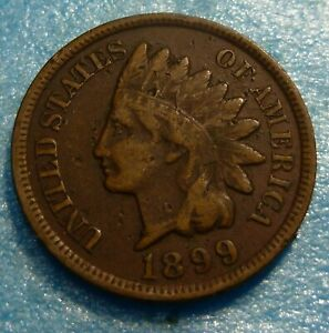 1899-Indian-Head-Penny-Cent-Coin-W99-Better-Grade
