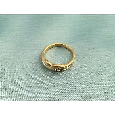 Ring in Schleifenmotiv mit Zirkonia von Pierre Lang, goldfarben, Größe 53