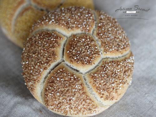 """Grand Kaiser Roll Bread Stamp Set Chacun 3.5/"""" à faire allemand brotchen"""