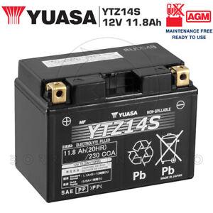 BATTERIA-YUASA-YTZ14S-SIGILLATA-12V-11Ah-HONDA-CB-F-SF-1300-2004-2005-2006