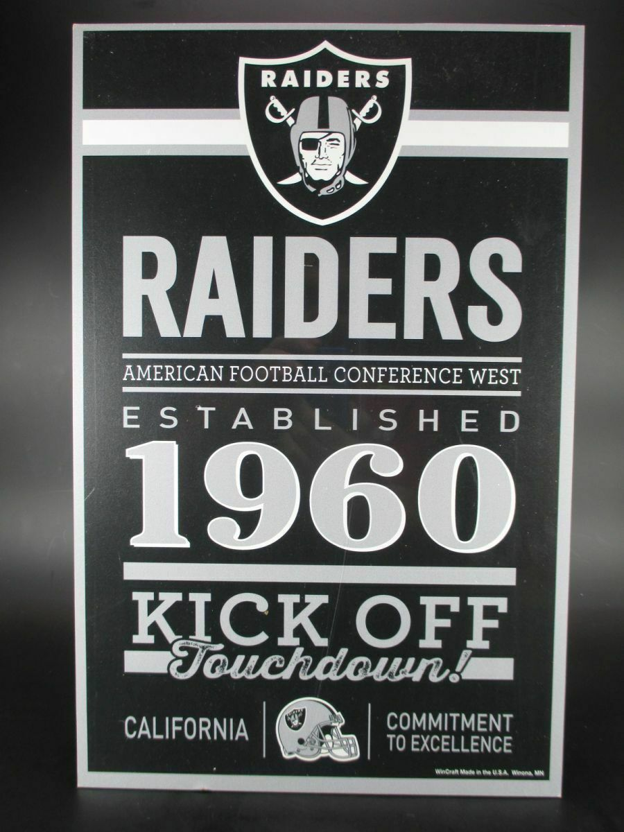 Oakland Raiders Wooden Sign 16 7 8in NFL Football,Established Wood Sign