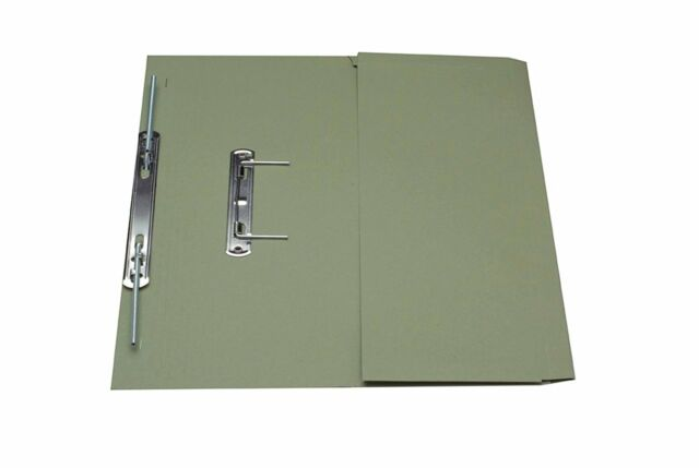 Guildhall Transfer Spring Pocket File Foolscap - Green, Pack of 25