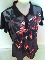 Golf Sale-ladies Pretty Print Golf Shirt- Uk 14-last One-£24.99-unusual Design