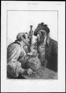 1893-FINE-ART-Antique-Print-ILLUSTRATIONS-Spanish-Tavern-Salamanca-236