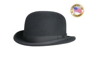 Image Is Loading Shannon Phillips BLACK DERBY Hat Wool Bowler Mens