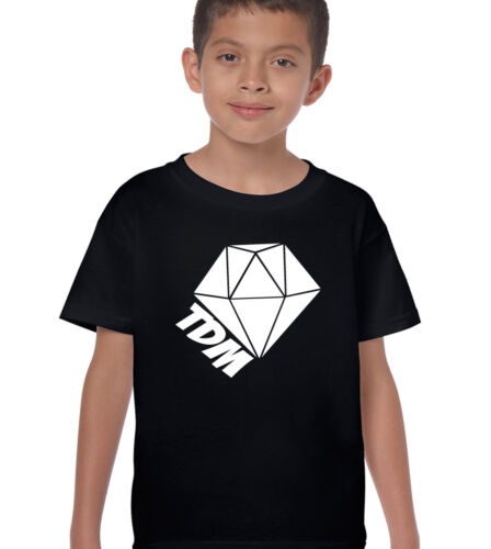 TDM T-Shirt Kids The Diamond Mine Funny Minecart Diamondcart Dan Boys Girls