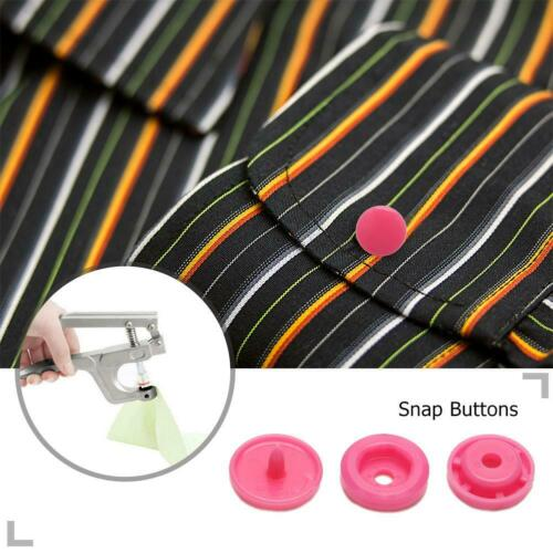 50pcs T5 Plastic Press Stud Fastener DIY Baby Clothing Suitcase Bag Snap Button