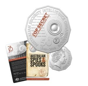 2019 AUSTRALIA 50c ASIO SPIES SPOOKS 70th ANNIVERSARY UNC COIN SOLD OUT AT RAM