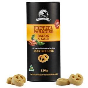 Bacon-and-Kale-120g-Pretzel-Shaped-Dog-Biscuit