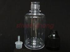 100pcs 30ml Empty Plastic Dropper Childproof Cap Bottles Eye Liquid Dropper Pet