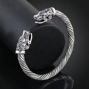 Bracelet Viking Bracelet Vikings Série Ragnar Lagertha couleur argent Steel